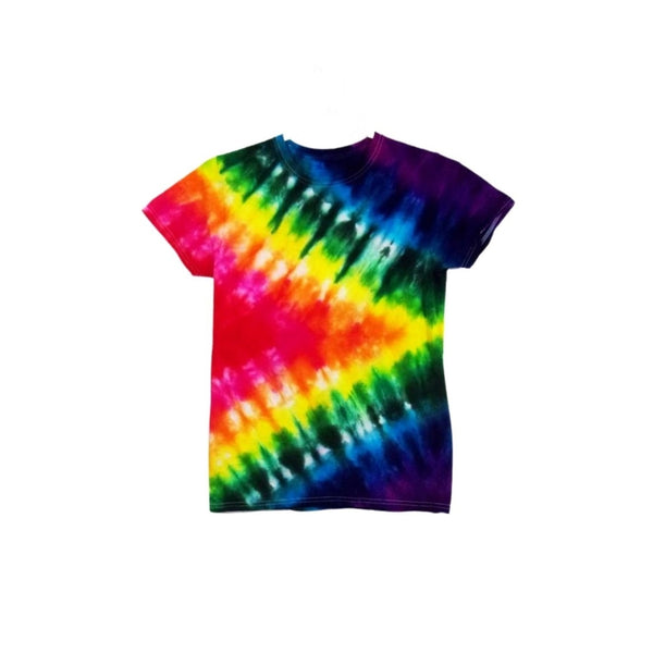 Tie Dye Short Sleeve Shirt Half Accordion Fold Handmade Tye Die Infant Toddler Youth Adult 6 mos 12 mos 18 mos 24 mos 2T 3T 4T 5T 6T XS S M L XL 2XL 3XL 4XL 5XL