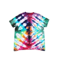 Tie Dye Short Sleeve T Shirt Folded Stripes Sizes Infant Toddler Youth Adult - ID 50005.3