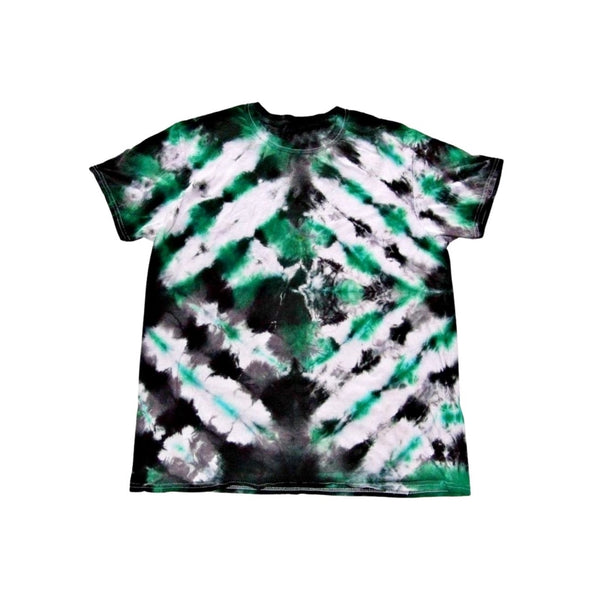 Tie Dye Short Sleeve T Shirt Folded Stripes Sizes Infant Toddler Youth Adult - ID 50015.3