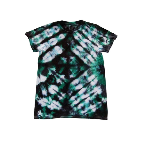 Tie Dye Short Sleeve T Shirt Folded Stripes Sizes Infant Toddler Youth Adult - ID 50035.3