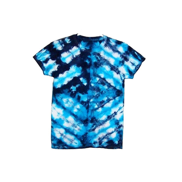 Tie Dye Short Sleeve T Shirt Folded Stripes Sizes Infant Toddler Youth Adult - ID 50085.3