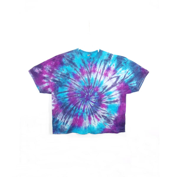 Tie Dye T Shirt Adult 5XL Crew Neck Spiral Gildan Ultra Cotton 6 ounce Short Sleeve Premade