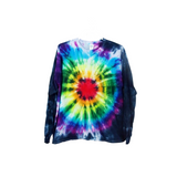Tie Dye Long Sleeve T Shirt 5.3oz Bull's Eye Youth XS-XL Adult S-3XL - ID 6002LS