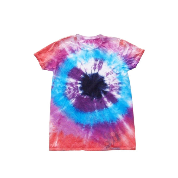 Tie Dye Short Sleeve T Shirt Bull's Eye Sizes Infant Toddler Youth Adult - ID 60035.3