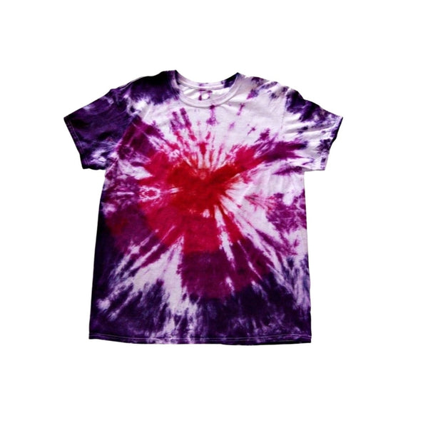 Tie Dye Short Sleeve Shirt Bull's Eye Handmade Tye Die Infant Toddler Youth Adult 6 mos 12 mos 18 mos 24 mos 2T 3T 4T 5T 6T XS S M L XL 2XL 3XL 4XL 5XL