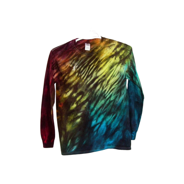 Tie Dye Long Sleeve T Shirt 5.3oz Shibori Youth XS-XL Adult S-3XL - ID 8000LS