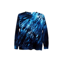 Tie Dye Long Sleeve T Shirt 5.3oz Shibori Youth XS-XL Adult S-3XL - ID 8005LS