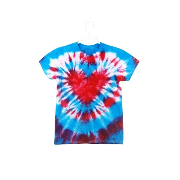 Tie Dye Short Sleeve T Shirt Heart Bull's Eye Sizes Infant Toddler Youth Adult - ID 90045.3
