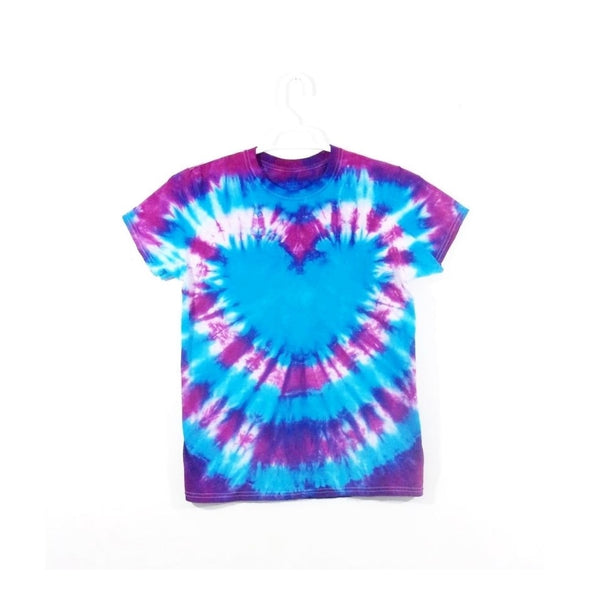 Tie Dye Short Sleeve T Shirt Heart Bull's Eye Sizes Infant Toddler Youth Adult - ID 90115.3