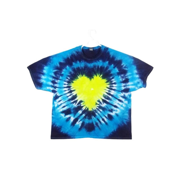 Tie Dye Short Sleeve Shirt Heart Bull's Eye Handmade Tye Die Infant Toddler Youth Adult 6 mos 12 mos 18 mos 24 mos 2T 3T 4T 5T 6T XS S M L XL 2XL 3XL 4XL 5XL