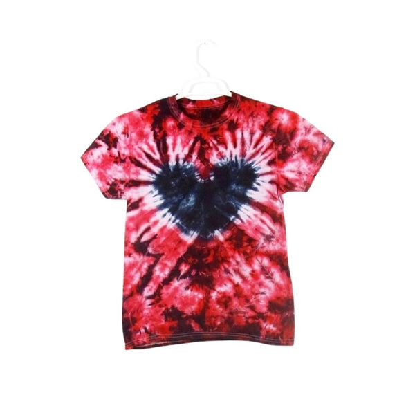 Tie Dye Short Sleeve T Shirt Heart Crinkle Sizes Infant Toddler Youth Adult - ID 91045.3