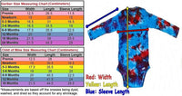 Tie Dye Baby Onesie Spiral Handmade Tye Die Cotton Gerber And Child Of Mine Long Sleeve