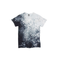 Tie Dye T Shirt Adult Small Crew Neck Crinkle Cotton Short Sleeve Premade