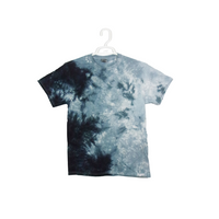 Tie Dye T Shirt Adult Medium Crew Neck Crinkle Cotton Short Sleeve 5.3oz Premade