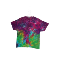 Tie Dye T Shirt Adult XL Crew Neck Crinkle Cotton Short Sleeve 5.3oz Premade