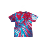 Tie Dye T Shirt Adult Large Crew Neck Double Spiral Cotton Short Sleeve 5.3oz Premade