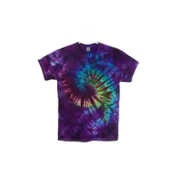 Tie Dye T Shirt Adult Medium Crew Neck Galaxy Swirl Cotton Short Sleeve 5.3oz Premade