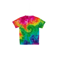 Tie Dye T Shirt Adult Medium Crew Neck Galaxy Swirl Cotton Short Sleeve Premade