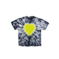 Tie Dye T Shirt Adult 2XL Crew Neck Heart Crinkle Cotton Short Sleeve 5.3oz Premade