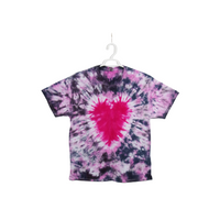 Tie Dye T Shirt Adult XL Crew Neck Heart Crinkle Cotton Short Sleeve 5.3oz Premade