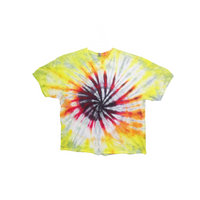 Tie Dye T Shirt Adult 4XL Crew Neck Spiral Cotton Short Sleeve 5.3oz Premade