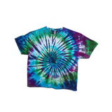 Tie Dye T Shirt Adult 3XL Crew Neck Spiral Cotton Short Sleeve Premade