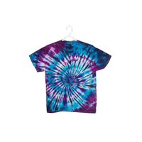 Tie Dye T Shirt Adult Large Crew Neck Spiral Cotton Short Sleeve 5.3oz Premade