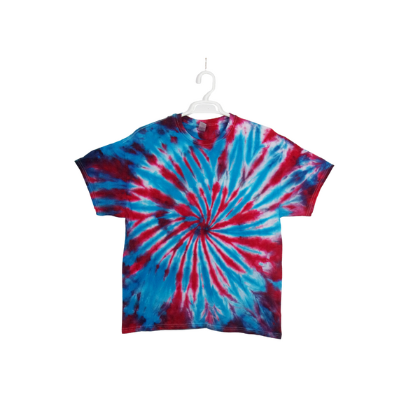 Tie Dye T Shirt Adult XL Crew Neck Spiral Cotton Short Sleeve 5.3oz Premade