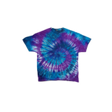Tie Dye T Shirt Adult 2XL Crew Neck Spiral Cotton Short Sleeve Premade