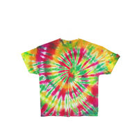 Tie Dye T Shirt Adult 2XL Crew Neck Spiral Cotton Short Sleeve 5.3oz Premade