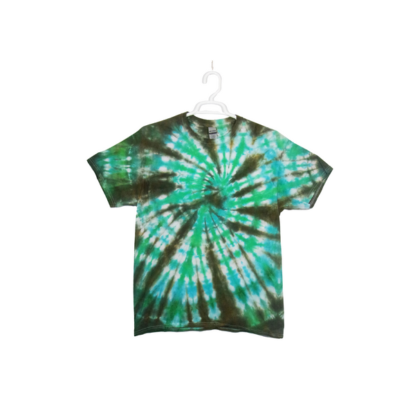 Tie Dye T Shirt Adult Large Crew Neck Spiral Cotton Short Sleeve Premade