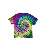 Tie Dye T Shirt Adult XL Crew Neck Spiral Cotton Short Sleeve Premade