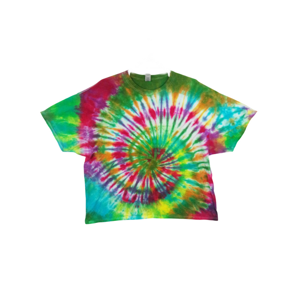 Tie Dye T Shirt Adult 3XL Crew Neck Spiral Cotton Short Sleeve 5.3oz Premade