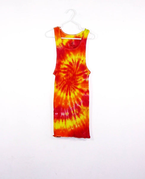 Tie Dye Ribbed Tank Top Spiral - ID 1002RT