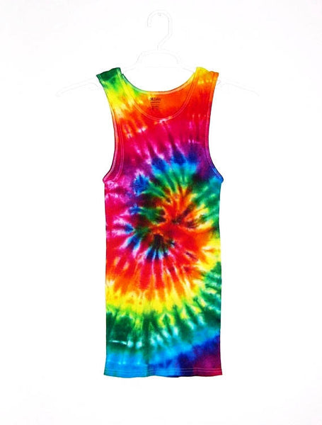Tie Dye Ribbed Tank Top Spiral - ID 1004RT