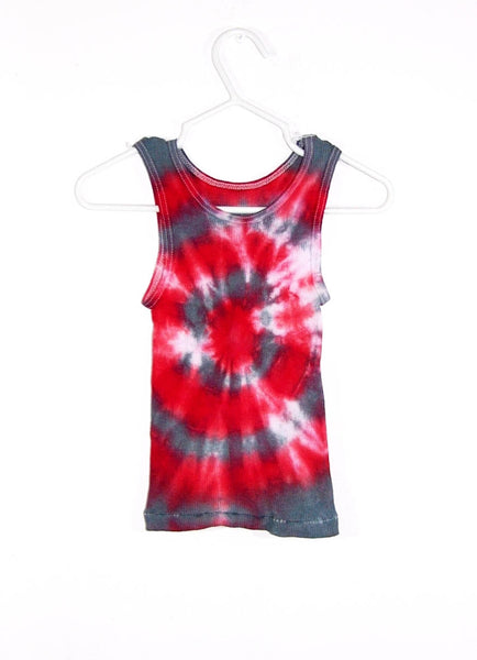 Tie Dye Bull's Eye Tank Top ( Ribbed )