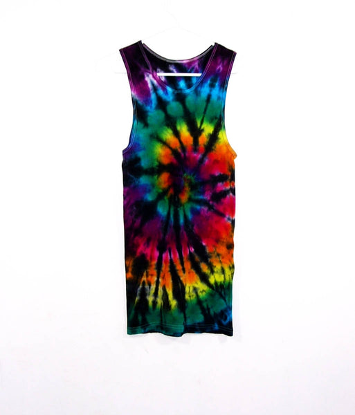 Tie Dye Ribbed Tank Top Spiral - ID 1007RT