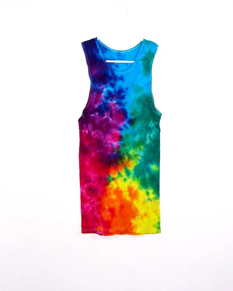 Tie Dye Ribbed Tank Top Crinkle - ID 2012RT