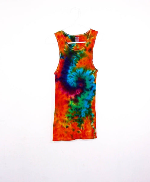 Tie Dye Galaxy Swirl Tank Top ( Ribbed )