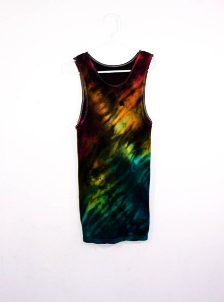 Tie Dye Shibori Tank Top ( Ribbed )