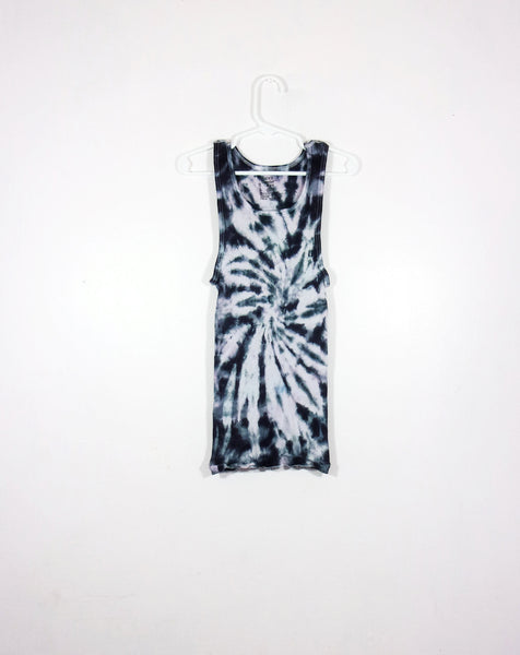 Tie Dye Ribbed Tank Top Spiral - ID 1016RT