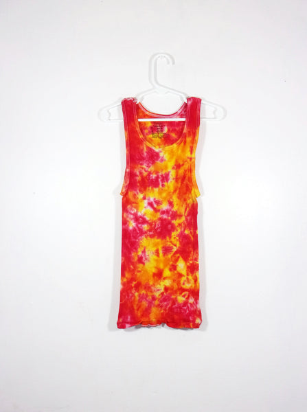 Tie Dye Ribbed Tank Top Crinkle - ID 2030RT