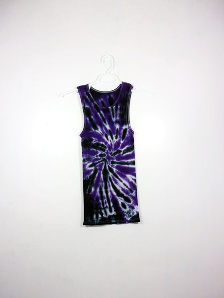 Tie Dye Ribbed Tank Top Spiral - ID 1042RT
