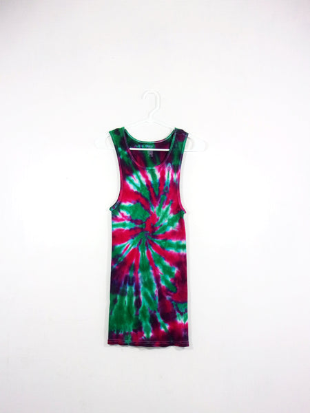Tie Dye Ribbed Tank Top Spiral - ID 1038RT