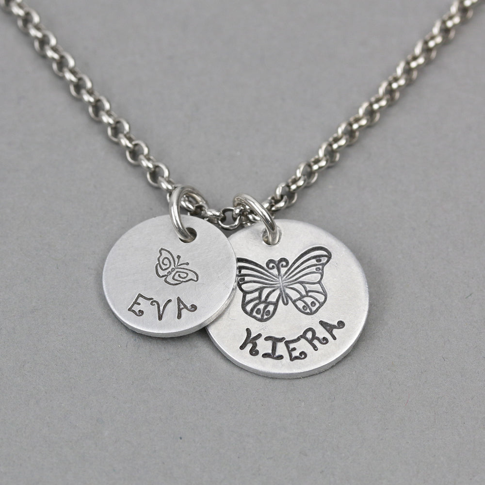 BFF Butterfly Stamped Necklace.