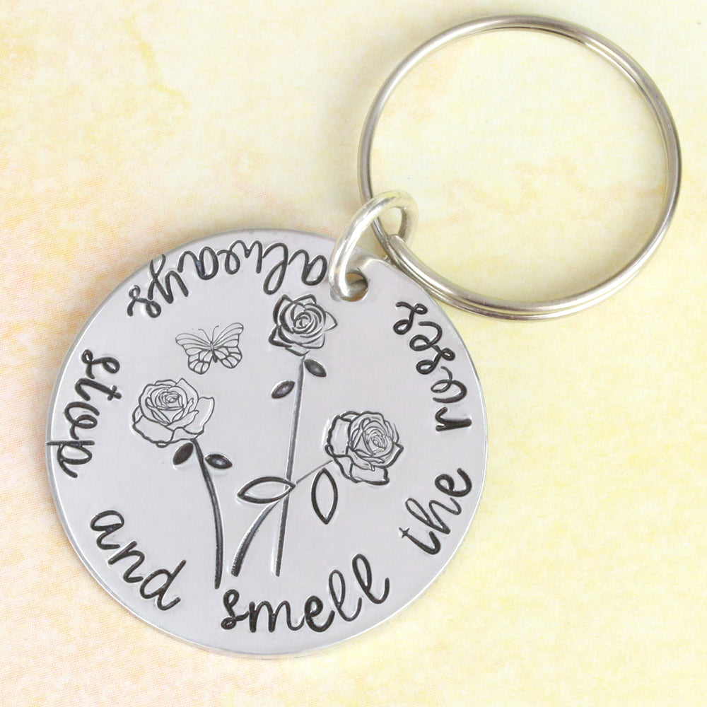 Keychain with Roses.