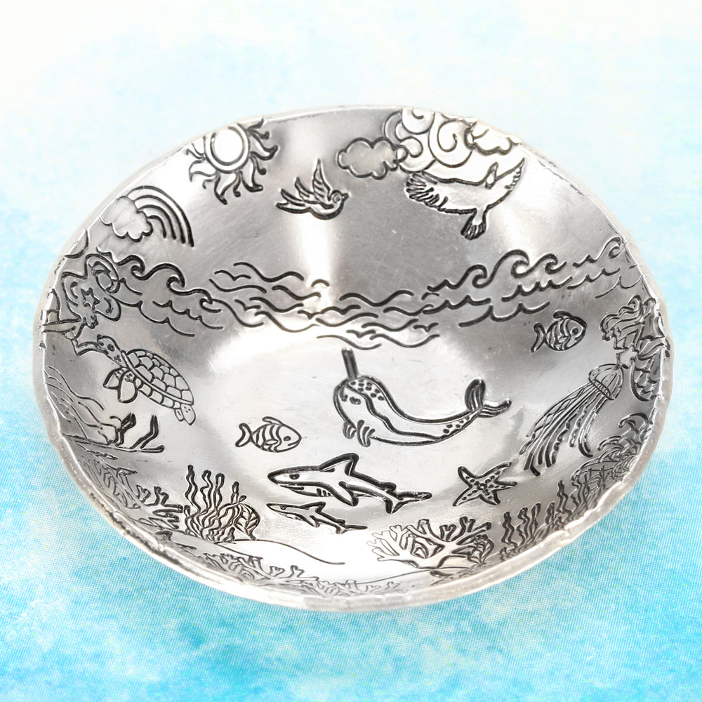 Stamped + Dapped Under the Sea Ring or Trinket Dish.