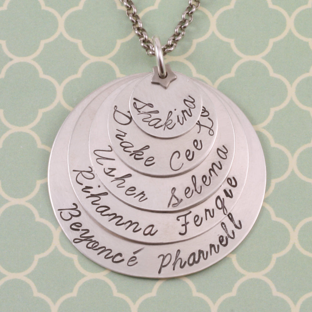 The Ultimate Stamped and Stacked Necklace.