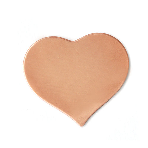 "Copper Puffy Heart, 24mm (.94"") x 21.5mm (.85""), 24g, Pack of 5"