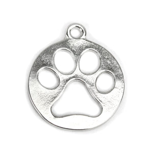 Charms & Solderable Accents Base Metal Paw Cutout Charm, Pack of 10